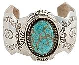 Navajo Native American Mine #8 Turquoise Bracelet by Edison Etsitty