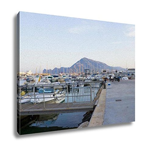 Ashley Canvas, Boats Moored In Harbour Near Denia Spain, Home Decoration Office, Ready to Hang, 20x25, AG6314692 by Ashley Canvas