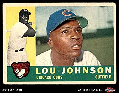 Amazoncom 1960 Topps 476 Lou Johnson Chicago Cubs