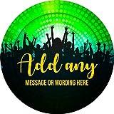 hiusan Disco Dance Party Personalized Sticker Lables Christmas Address Labels Envelop Seals Party Favor Tags Lable
