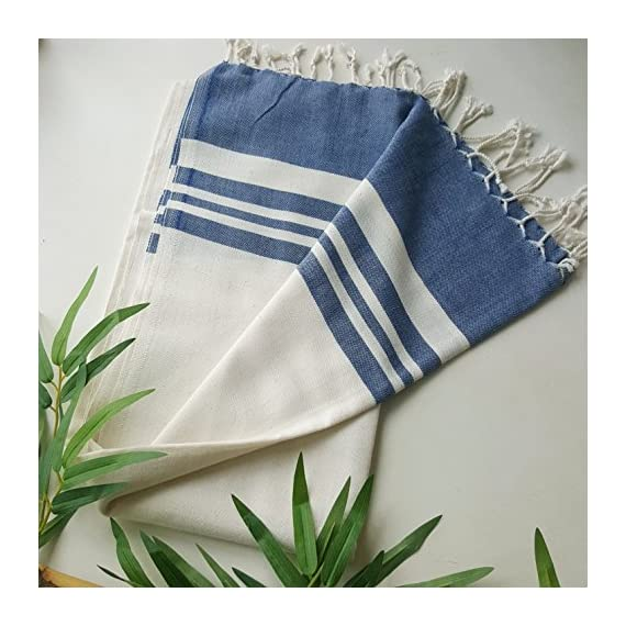 Secret Sea Collection Lightweight Turkish Peshtemal Towel %100 Bamboo 70'' x 35'' (Navy Blue) - They are super soft, lightweight, quick drying and easy to carry. Highly versatile; use on the beach, in the bathroom, sarong by the pool or a throw for your home. 30% less susceptible to odours than cotton. They will become softer and more absorbent after each wash. - bathroom-linens, bathroom, bath-towels - 51ZxuvSmz%2BL. SS570  -