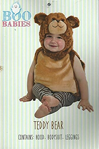 Teddy Bear, Fits Child 0-9 month age, Contains Hood, Bodysuit, (Boo Boo Bear Costume)