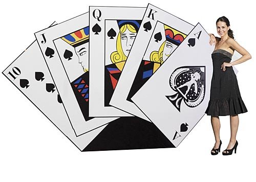 Hand of Cards Poker Vegas Casino Standee Standup Photo Booth Prop Background Backdrop Party Decoration Decor Scene Setter Cardboard Cutout ()