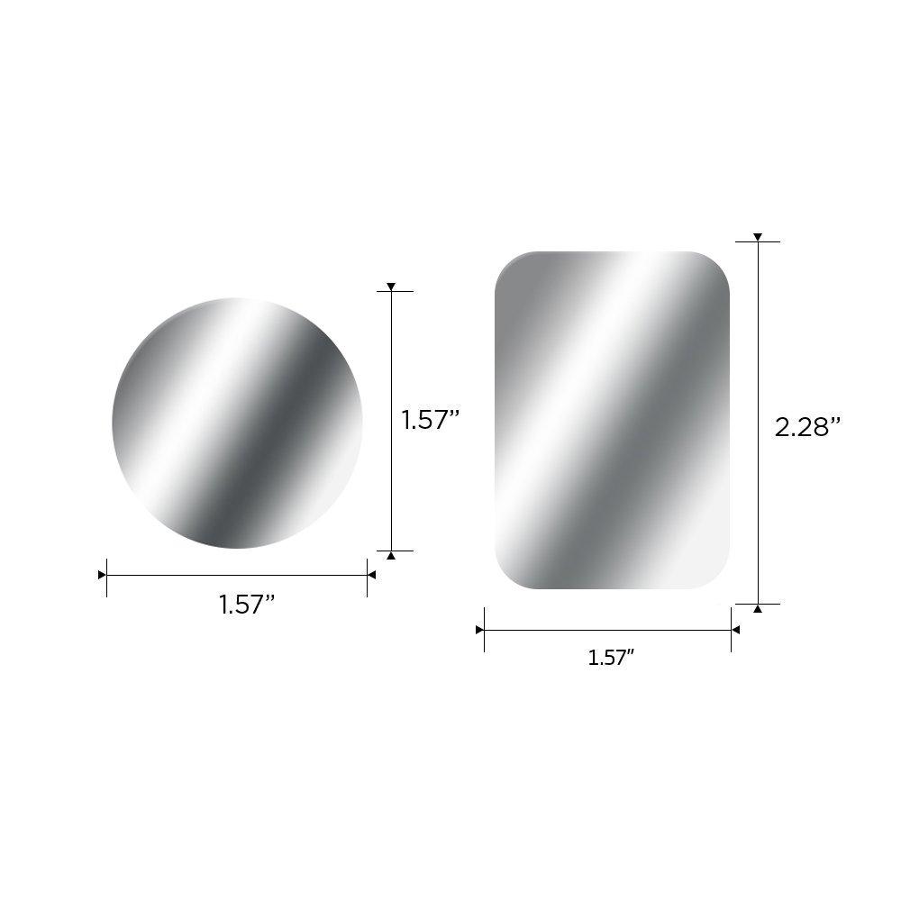 SKYEE Metallplatte Metallpl/ättchen Set Ersatzplatten 4 Runden+4 Rechteckig mit 3M Klebefolie f/ür Magnet KFZ handyhalterung Sehr D/ünn klebt R/ückseite der H/ülle kompatibel mit Handy und Tablet. 8 St/ück