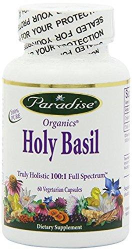 Paradise Herbs Holy Basil 12:1 2% Ursolic Acid Vegetarian Capsules, 60 Count ()