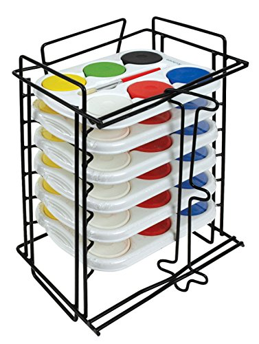Jack Richeson 6 Tempera Sets in 6 Hole Trays with Rack
