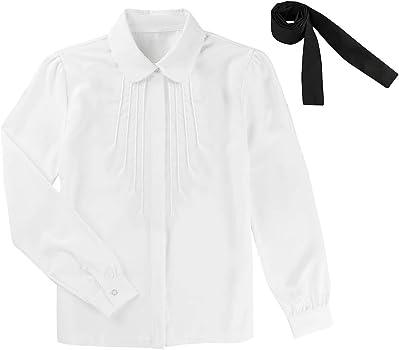 Freebily Blusa Blanca de Manga Larga Mujer Camisa Básica con Bowknot Tops Blusa Formal de Negocio Trabajo Uniforme Escolar Camisa Niñas Infántil Marfil Small: Amazon.es: Ropa y accesorios