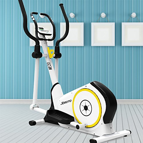 JOROTO Magnetic Elliptical Trainer Cardio Workout Machine with Heart Rate Pulse Sensors (ME20)