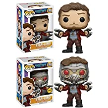 Funko POP! Guardians Of The Galaxy Vol. 2: Star-Lord + Star-Lord (CHASE) - Vinyl Bobble-Head Figure Set NEW
