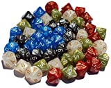 High City Books 50 10-Sided Dice | 5 Sets of 10 D10