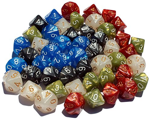 High City Books 50 10-Sided Dice | 5 Sets of 10 D10 (Side 10 Dice)