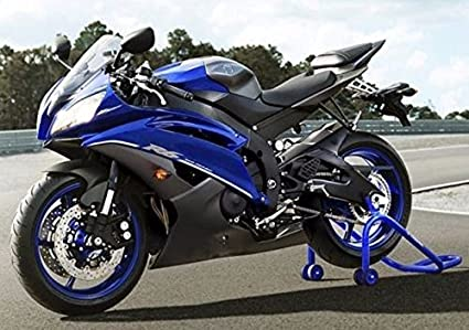 Blue w/Matte Black Fairing Injection for 2008-2016 Yamaha R600 YZF-R6 YZF  R6 2009 2010 2011 2012 2013 2014 2015