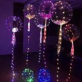 Psunrise Decoración Luminous Led Balloon Transparent Round Bubble Decoration Party Wedding 20inch
