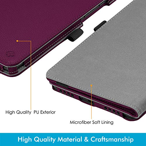 Fintie Folio Keyboard Case for Samsung Galaxy Tab A 8.0 2019 Without S Pen Model (SM-T290 Wi-Fi, SM-T295 LTE), Premium PU Leather Stand Cover w/Removable Wireless Bluetooth Keyboard, Purple
