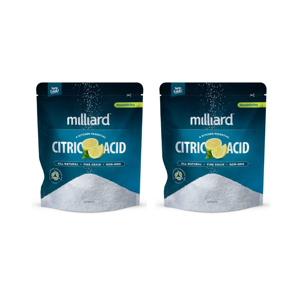 Citric Acid 5 Pound - 100% Pure Food Grade NON-GMO Project VERIFIED (5 Pound) (2 Pack) by Milliard (Image #1)