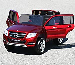 12v ride on car mercedes glk 300 series for Red mercedes benz power wheels
