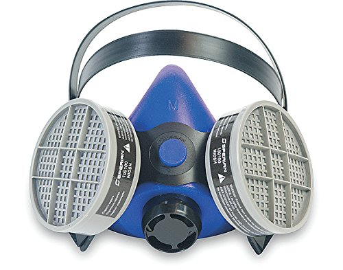 Honeywell B270000 Survivair Large Blue Silicone SURVIVAIR 2000 Half Mask S-Series Facepiece, English, 30.68 fl. oz, Plastic, 1