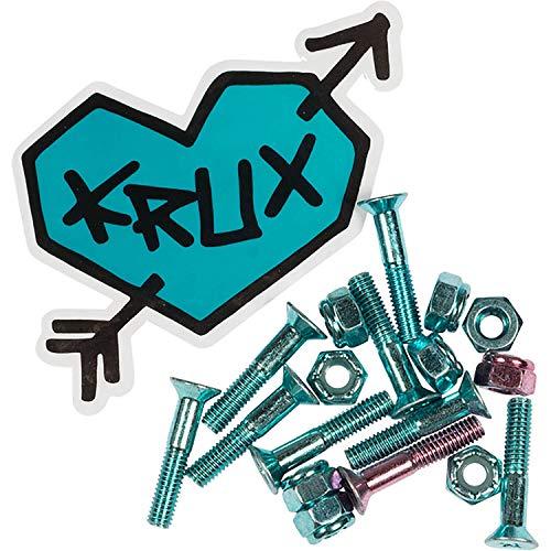 - Krux Trucks Krome Phillips Head 7 Blue/1 Pink Skateboard Hardware Set - 1