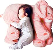 MJTP 24 inch Elephant Pillow Cute Stuffed Animals Pillow Soft Toys Plush Toys