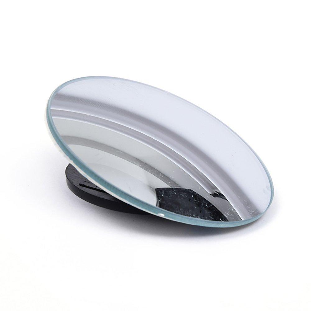 Ouken Blind Spot Mirror or Round HD Glass Convex Lens Frameless for All Universal Car Stick-on Design 2 PCS