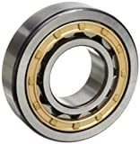 SKF NU 215 ECM/C3 Cylindrical Roller Bearing, Single Row, Removable Inner Ring, Straight Bore, High Capacity, C3 Clearance, Brass Cage, Metric, 75mm Bore, 130mm OD, 25mm Width