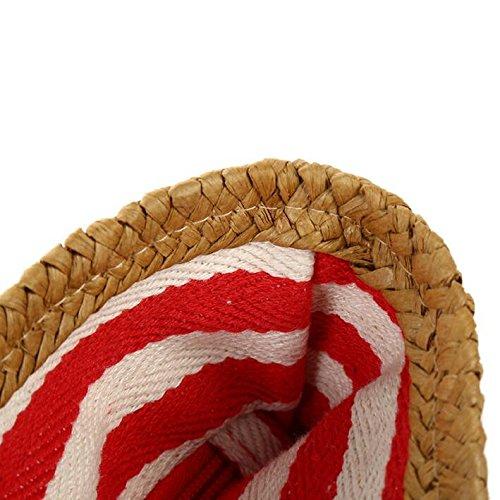 Meaeo Frauen Stroh Beutel Sommer Strand Beliebtesten Beliebtesten Beliebtesten Weiblichen Reisen Handtasche Große Lady Fashion Umhängetasche Weave Shopping Stripe Tragetasche, Rot B07DB6DCH3 Schultertaschen Gute Qualität 889c72