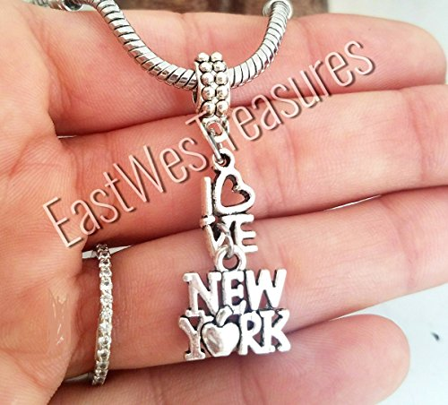 (EWT I love NEw York Big apple NY Charm Pendant fit all DIy Charm bracelets and any chain necklace)