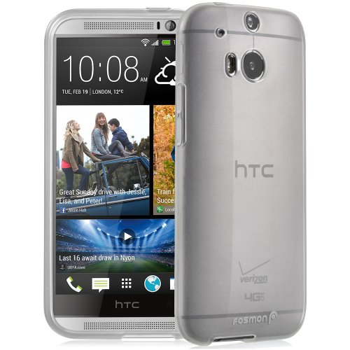 Fosmon DURA-CANDY Glossy slim-Fit Case Flexible Cover for HTC One M8 (2014) - Retail Packaging (Htc One M8 Premium Case)