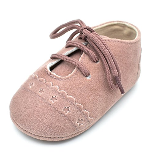 HEOPER Baby Girl Boys Lace Up Sneakers Soft soled Anti-Slip Infant Toddler Shoes (Toddler Infant Soft Pink Shoes)