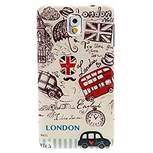 London Bus and Car Pattern Plastic Hard Case for Samsung Galaxy Note 3