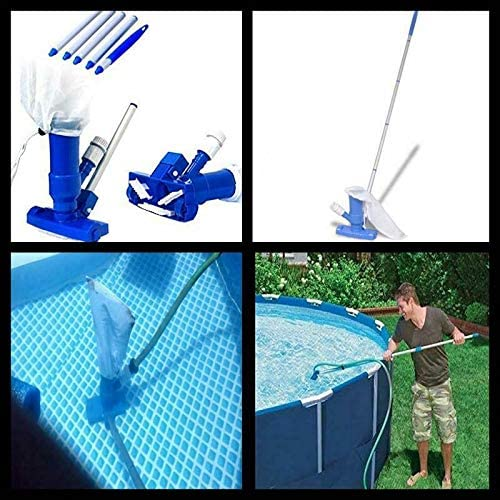 Pool Spa Pond Mini Jet Vac Vacuum Cleaner W// Brush Bag and 4/' Pole