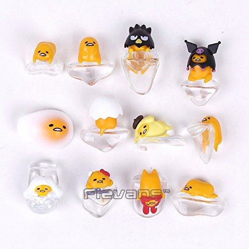 Cute Egg Gudetama PUTITTO Series Mini PVC Figures Collectible Model Toys Dolls 12pcs/set