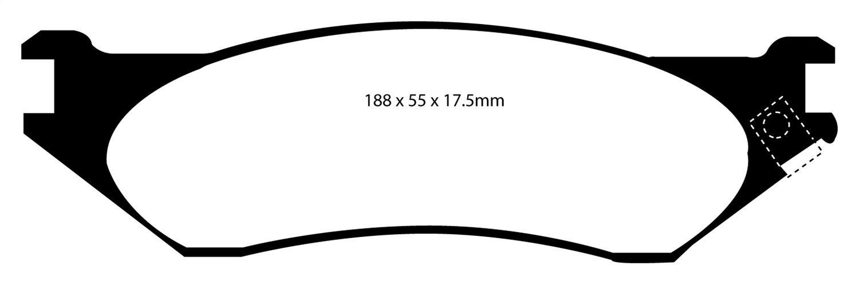 EBC DP41747R YELLOWSTUFF ULTIMATE RACE BRAKE PADS FRONT