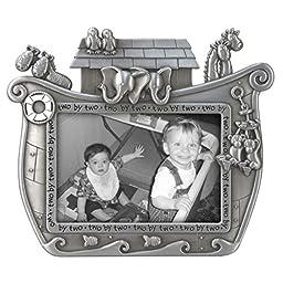 Malden International Designs Noah\'s Ark Baby Metal Picture Frame, 3x5, Silver