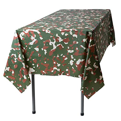 Camouflage 12 Pack Premium Disposable Plastic Tablecloth 54 Inch. x 108 Inch. Rectangle Table Cover By Grandipity]()