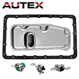 AUTEX A340E A340F Transmission Shift Master Lock-up Solenoid with Filter Gasket Kit for 2000-2004 Toyota Lexus Models