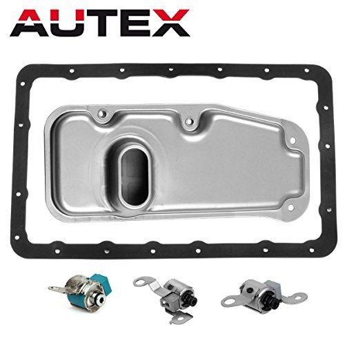 (AUTEX A340E A340F Transmission Shift Lockup Solenoid with Filter Gasket Kit Compatible With 00 01 02 03 04 4 Runner/00 01 02 Land Cruiser/00 01 02 03 04 Tacoma/01 02 03 04 Tundra V8)