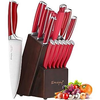 Amazon.com: Knife Set - OOU 7 Kitchen Knife Set with Block ...