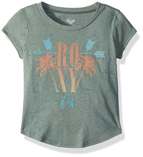 - Roxy Girls' Big Weekend Crew T-Shirt, Olive, 8/S