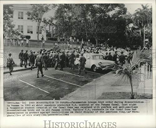 1959 Press Photo Demonstration over U.S. control of the Panama Canal, Panama - Historic Images (Best Time To See Panama Canal)