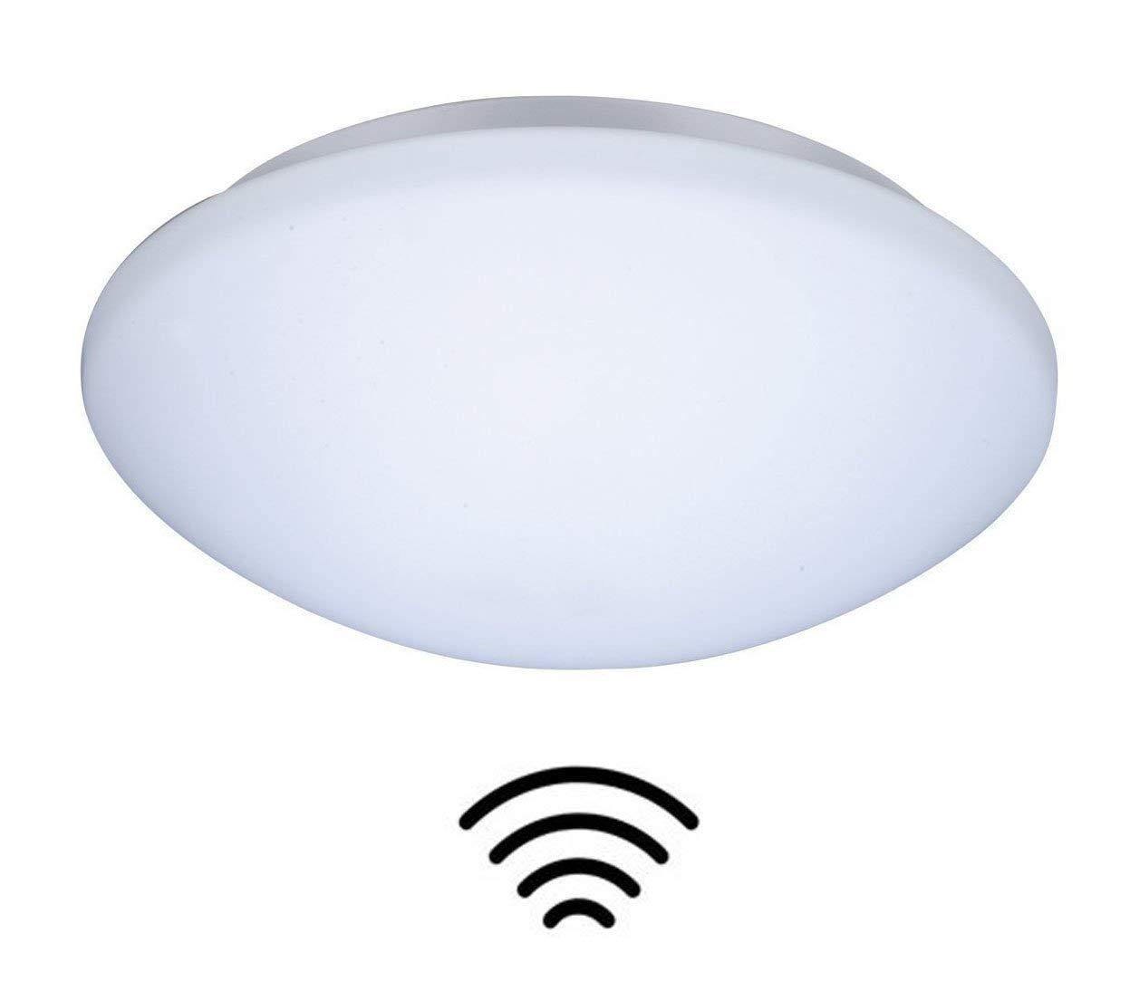 ZEYUN Lámpara de pared y techo LED con detector de movimiento de alta frecuencia fabricada con lámpara E27, 28 x 9,5 cm iluminación de la escalera (con ...