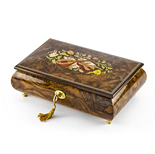Enchanted Evening Jewelry (Handcrafted 18 Note Natural Wood Tone Music Theme Musical Jewelry Box - Some Enchanted Evening)