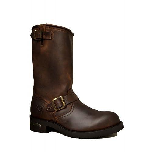 59f7cc500b7 Sendra 2944 Men Biker Boots Brown Leather Western Cowboy Handmade ...