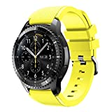 For Samsung Gear S3 Frontier New Fashion Sports Silicone Bracelet Strap Band,Outsta Watch Band Wrist Strap Watch Accessories Bracelet Best Gift 22mm (Yellow)