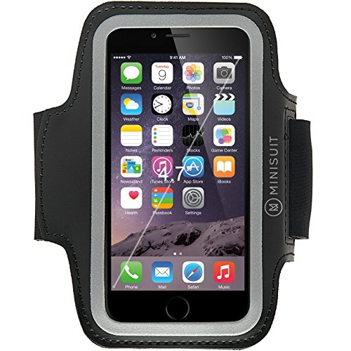 "Minisuit SPORTY Armband + Key Holder for Apple iPhone 6, 6S (4.7"") Black"