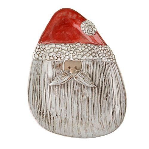 Santa Jar Cookie Claus (MudWorks Pottery Santa Cookie Plate)