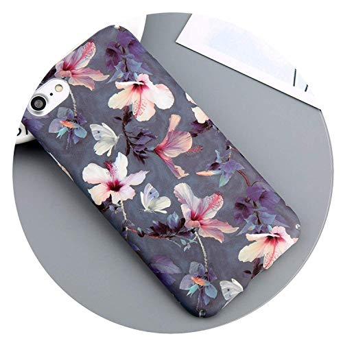 Case for iPhone 7 6 X XR XS Max Flower Cherry Tree Hard PC Phone Cases Candy Colors Leaves Cover for iPhone 6 6s 7 8 Plus SJ4076 for iPhone XR,SJ3270,For6Plus6sPlus