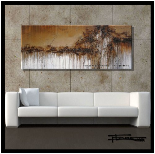 Modern, Abstract, Canvas Wall Art, Painting, Limited Edition Giclee....ENTER THE LION....60x24x1.5 Ready to Hang, US artist..ELOISExxx