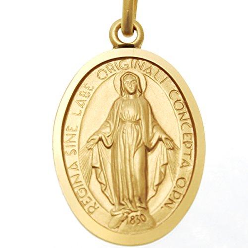 Arranview Jewellery Médaille en Or 9 Carats Pendantes-fini mat 20 mm