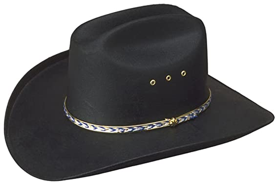 c3543543549 Sunrise Outlet Black Cattleman Cowboy Straw Hat - Elastic Fit   Amazon.co.uk  Clothing